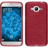 Silicone Case for Samsung Galaxy J2 (2016) brushed red