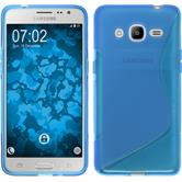 Silicone Case for Samsung Galaxy J2 (2016) S-Style blue