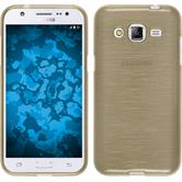 Silicone Case for Samsung Galaxy J2 brushed gold