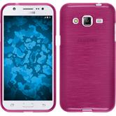 Silicone Case for Samsung Galaxy J2 brushed hot pink