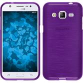 Silicone Case for Samsung Galaxy J2 brushed purple