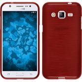 Silicone Case for Samsung Galaxy J2 brushed red