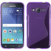 Silicone Case for Samsung Galaxy J2 S-Style purple