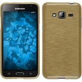 Silicone Case for Samsung Galaxy J3 brushed gold