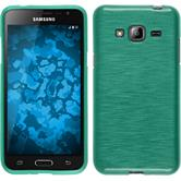 Silicone Case for Samsung Galaxy J3 brushed green