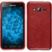 Silicone Case for Samsung Galaxy J3 brushed red