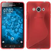 Silicone Case for Samsung Galaxy J3 Pro S-Style red