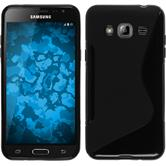 Silicone Case for Samsung Galaxy J3 S-Style black