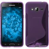 Silicone Case for Samsung Galaxy J3 S-Style purple