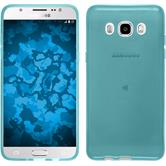 Silicone Case for Samsung Galaxy J5 (2016) J510 transparent turquoise