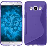 Silicone Case for Samsung Galaxy J5 (2016) S-Style purple