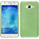 Silicone Case for Samsung Galaxy J5 (J500) brushed green