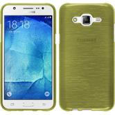 Silicone Case for Samsung Galaxy J5 (J500) brushed pastel green