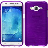 Silicone Case for Samsung Galaxy J5 (J500) brushed purple