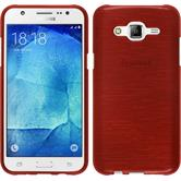 Silicone Case for Samsung Galaxy J5 (J500) brushed red