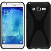 Silicone Case for Samsung Galaxy J5 (J500) X-Style black