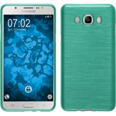 Silicone Case for Samsung Galaxy J7 (2016) J710 brushed green