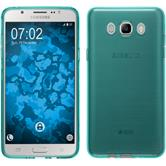Silicone Case for Samsung Galaxy J7 (2016) J710 transparent turquoise