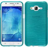 Silicone Case for Samsung Galaxy J7 brushed blue