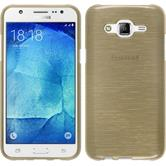 Silicone Case for Samsung Galaxy J7 brushed gold