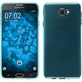 Silicone Case Galaxy J7 Prime transparent turquoise + protective foils