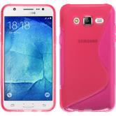 Silicone Case for Samsung Galaxy J7 S-Style hot pink