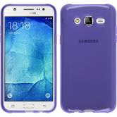 Silicone Case for Samsung Galaxy J7 transparent purple