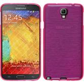 Silicone Case for Samsung Galaxy Note 3 Neo brushed hot pink