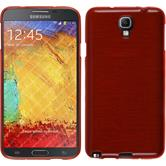 Silicone Case for Samsung Galaxy Note 3 Neo brushed red