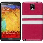 Silicone Case for Samsung Galaxy Note 3 Stripes hot pink
