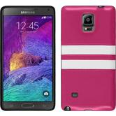 Silicone Case for Samsung Galaxy Note 4 Stripes hot pink