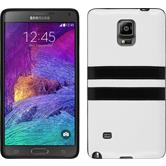 Silicone Case for Samsung Galaxy Note 4 Stripes white
