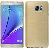 Silicone Case for Samsung Galaxy Note 5 brushed gold