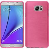 Silicone Case for Samsung Galaxy Note 5 brushed hot pink