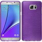 Silicone Case for Samsung Galaxy Note 5 brushed purple