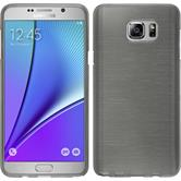 Silicone Case for Samsung Galaxy Note 5 brushed silver