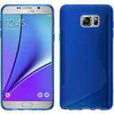 Silicone Case for Samsung Galaxy Note 5 S-Style blue