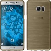 Silicone Case for Samsung Galaxy Note 7 brushed gold