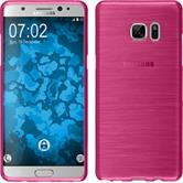 Silicone Case for Samsung Galaxy Note 7 brushed hot pink