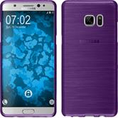 Silicone Case for Samsung Galaxy Note 7 brushed purple