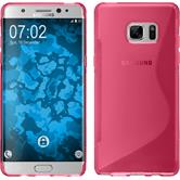 Silicone Case for Samsung Galaxy Note 7 S-Style hot pink