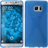Silicone Case for Samsung Galaxy Note 7 X-Style blue