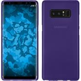 Silicone Case Galaxy Note 8 matt purple + Flexible protective film