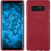 Silicone Case Galaxy Note 8 matt red + Flexible protective film