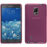 Silicone Case for Samsung Galaxy Note Edge transparent pink