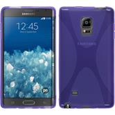 Silicone Case for Samsung Galaxy Note Edge X-Style purple