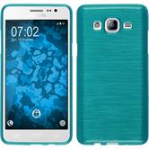 Silicone Case for Samsung Galaxy On5 brushed blue
