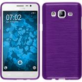 Silicone Case for Samsung Galaxy On5 brushed purple