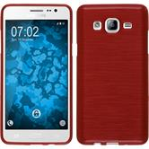 Silicone Case for Samsung Galaxy On5 brushed red