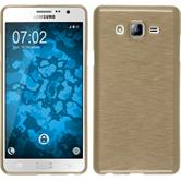 Silicone Case for Samsung Galaxy On7 brushed gold